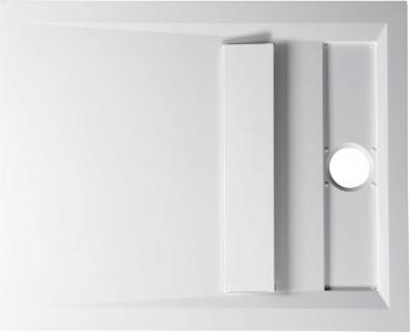 Polysan VARESA sprchová vanička z litého mramoru se záklopem, obdélník 110x90x4cm, bílá 72938