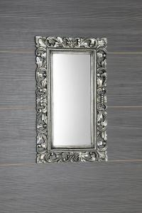 Sapho SAMBLUNG zrcadlo v rámu, 40x70cm, stříbrná IN109