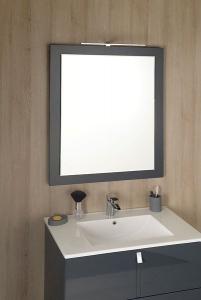 Sapho MITRA zrcadlo v rámu 920x720x40mm, antracit MT182