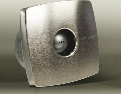 Cata X-MART 10H koupelnový ventilátor axiální s automatem, 15W, potrubí 100mm, nerez 01044000