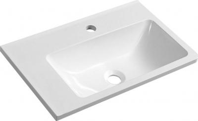 Sapho ARANA umyvadlo 56x11x35cm, litý mramor, bílá, levé AN055