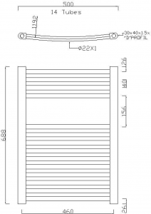 Sapho ALYA otopné těleso oblé 500x688mm, 196W, chrom 1110-02