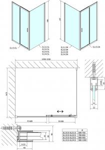Polysan Easy Line obdélníkový sprchový kout 1500x1000mm L/P varianta EL1515EL3415