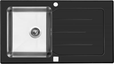 Sinks VITRUM 860 V 1mm kartáčovaný černý STSVIK8605001VB