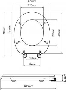 Aqualine AQUALINE WC sedátko, HDF, třešeň 1705-12