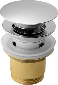Aqualine Uzavíratelná umyvadlová výpust kulatá, click clack, velká zátka, V 30-45mm, chrom TF7001