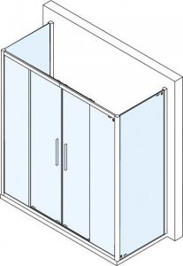 Polysan Lucis Line třístěnný sprchový kout 1500x1000x1000mm DL4215DL3515DL3515
