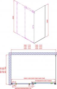 Gelco DRAGON boční stěna 900mm, čiré sklo GD7290