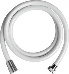 Aqualine NOPEL plastová sprchová hadice, hladká, 150cm, bílá 11078