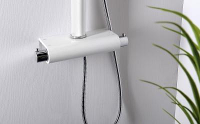 Aqualine SAVA sprchový sloup s baterií, výška1249mm, bílá SL280