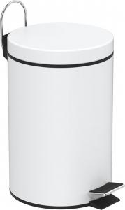 Aqualine SIMPLE LINE odpadkový koš kulatý 3l, bílá 28103