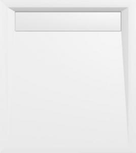 Polysan VARESA sprchová vanička z litého mramoru se záklopem, obdélník 90x80x4cm, bílá 71606