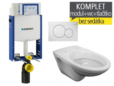 Geberit závěsný WC komplet T-05 Kombifix Eco + JIKA Euroline klozet závěsný