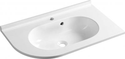 Sapho PULSE umyvadlo 75x4, 4x45cm, litý mramor, bílá, pravé BM658