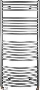 Aqualine ORBIT otopné těleso s bočním připojením 600x1330 mm, 708 W, stříbrná ILA36