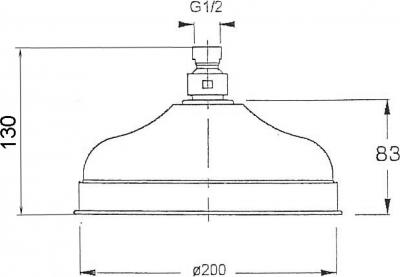 Reitano Rubinetteria ANTEA hlavová sprcha, průměr 200mm, růžové zlato SOF2007
