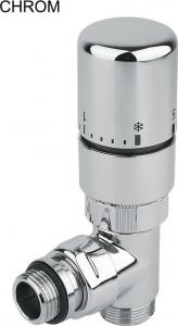 Sapho TWIN COMBI přip. sada ventilů termostatická pro středové připojení, pravé, chrom CP5010