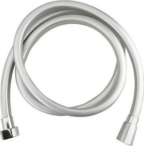 Sapho QUADROFLEX hranatá sprchová hadice, 150cm, stříbrná/chrom 1208-13