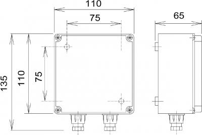 Sapho Napájecí zdroj pro 1-3 ks baterií / splachovačů urinálu, 12V, 50 Hz PS03T