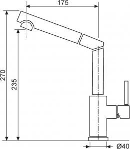 Granitový dřez Sinks FRAME 457 Sahara+MIX 350P ACRF45750M350P