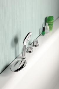 Sapho Ruční sprcha, průměr 110mm, ABS/chrom/bílá 1204-28