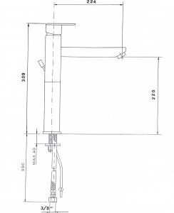 Reitano Rubinetteria MASTERMAX stojánková umyvadlová baterie vysoká s pr. hubicí bez výpusti, chrom 8702LL/S