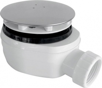 Gelco GELCO vaničkový sifon, průměr otvoru 90 mm, DN40, nízký, krytka leštěný nerez PB90EXN