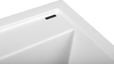 Sapho Dřez granitový vestavný mono, 57x51 cm, bílá GR1001