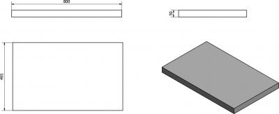 Sapho AVICE deska 80x50cm, ořech rustik AV083