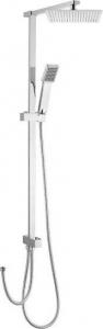 Sapho Sprchový sloup k napojení na baterii, pevná SLIM a ruční sprcha, hranatý, chrom 1202-12