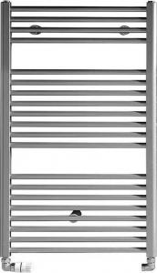 Aqualine DIRECT otopné těleso s bočním připojením 450x970 mm, 415 W, metalická stříbrná ILS94