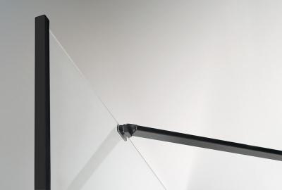 Polysan ZOOM LINE BLACK čtvrtkruhová sprchová zástěna 900x900mm, čiré sklo, levá ZL2615BL