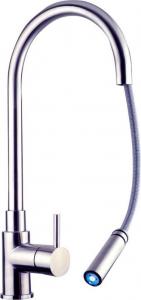 Sapho DUNA stojánková dřezová baterie s výsuvnou sprškou, nerez DU015
