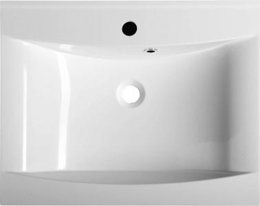 Sapho LUCIOLA umyvadlo 60x48cm, litý mramor, bílá 50062