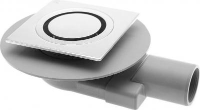 Omp Tea TIRANA podlahová vpusť boční 100x100 mm, odpad 50mm, chrom 2665.295.8
