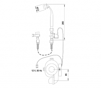 Sapho Integrovaný automatický splachovač pro urinál 12V AC PS01T
