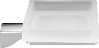 Gedy GLAMOUR mýdlenka, chrom/sklo satin 5711