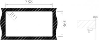 Nerezový dřez Sinks BOX 790 RO 1,0mm RDBOK7904501RO