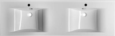 Sapho FLAVIA dvojumyvadlo 160x50cm, litý mramor, bílá 68164