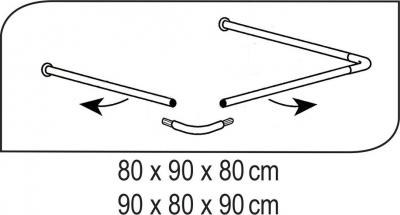 Ridder Rohová univerzální sprchová tyč, bílá 59501