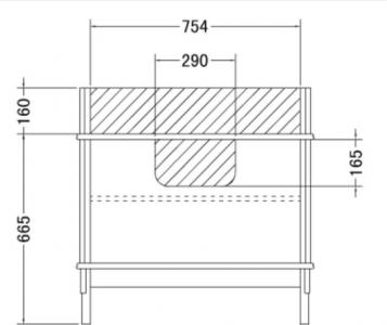 Gallo Wood GIGLIO 210-S skříňka s dvojumyvadlem, š. 210cm, noce/oro GS-210