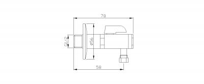 Reitano Rubinetteria Rohový ventil s matkou, 1/2'x 3/8', bronz 2020BRO
