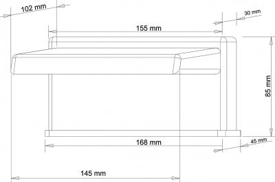 Sapho Výtoková hubice otevřená na okraj vany, šířka 145mm, kaskáda, chrom 5107