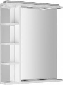 Aqualine KORIN zrcadlo s LED osvětlením, zásuvkou a poličkami 60x70x12cm KO377