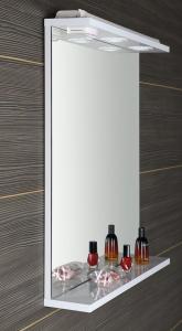 Aqualine KORIN zrcadlo s LED osvětlením a zásuvkou 60x70x12cm KO397