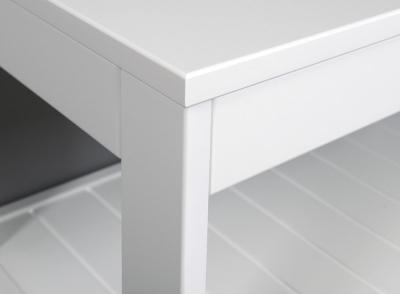 Aqualine ETIDE policový regál nízký 61x45x36 cm, bílá mat ET061