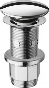 Silfra Uzavíratelná kulatá výpust pro umyvadla s přepadem i bez, Click Clack, V 10-80mm, C WA43451