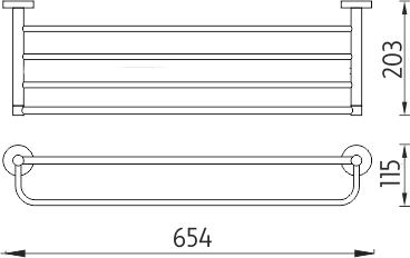 Nimco Unix nerez Police na ručníky, 65 cm. UNM 13063-10