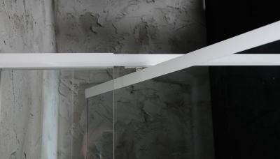 Aqualine AMICO sprchové dveře výklopné 1040-1220x1850 mm, čiré sklo G100