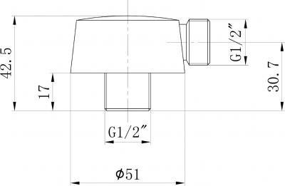 Sapho Vývod sprchy, průměr 50mm, nikl 981NK